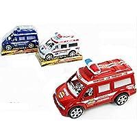 1 Vehículo del fuego de ambulancias para emergencias POLICÍA 19 CM DE FRICCIÓN JUGUETE