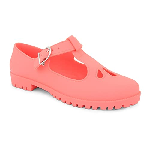 Jane Geek Pompe Out T Flat Footwear Jelly Gelatine Cut Sensation Donna Bar Scarpe Mary mn08wN