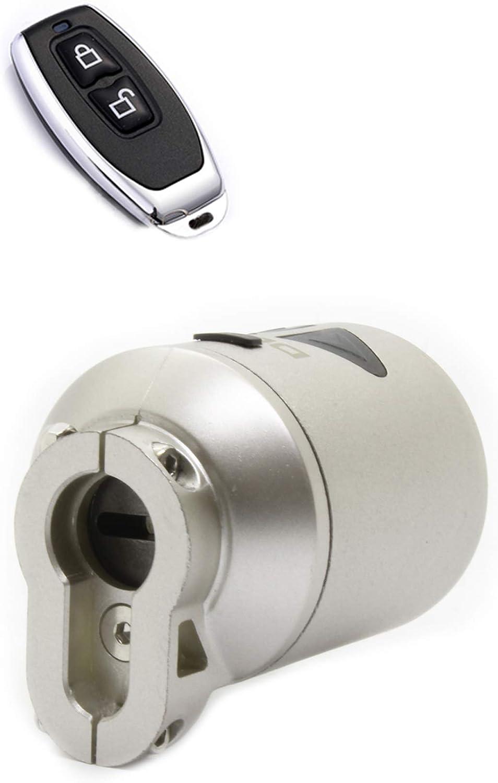 Desi Utopic Ok Smart Lock para puertas de cilindro de perfil europeo, mando a distancia, baterías recargables, control de teléfono móvil habilitado por Bluetooth