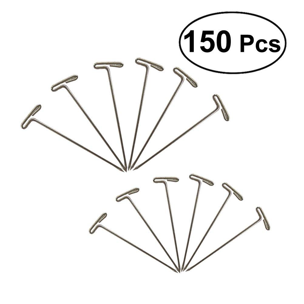 ultnice 150pcs Acciaio T di aghi Pins a T per bloccare parrucche cucito fai da te DIY (51mm + 38mm)