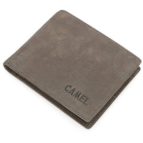 CAMEL CROWN Cartera Hombre Billetera Bifold Hombre, Tarjetas de Crédito Slim Moda RFID Bloqueo Monedero