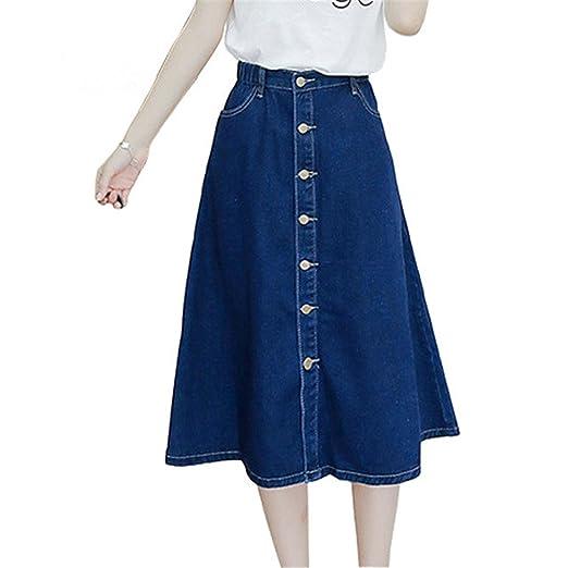 4566d3a05f Sville Mary Denim Skirt Women Calf-Length A Line Patchwork Stretch Jeans  Skirt Mxgdenimskirts Xl