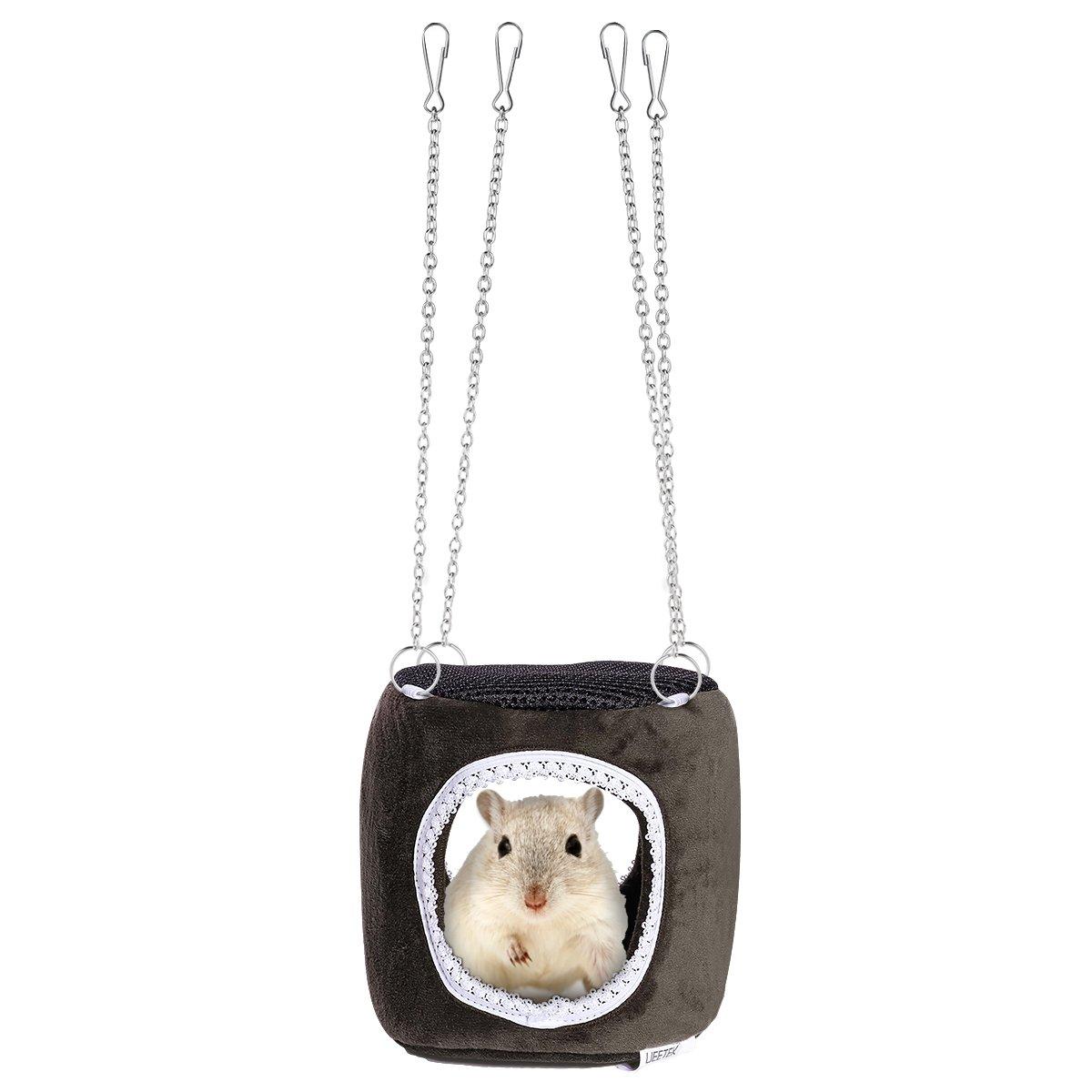 UEETEK Petit hamac animalier Hanging Snuggle Cave Hut pour Hamster Squirrel Chinchilla Guinée