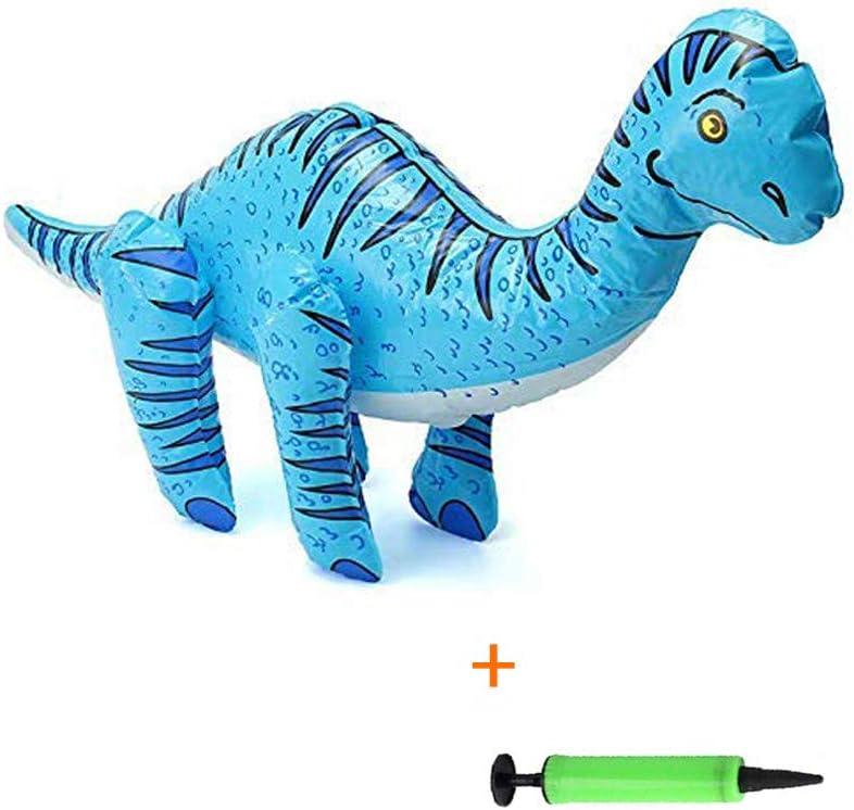 kungfu Mall 1PC Brachiosaurus Inflable Inflable Dinosaurio Juguetes Dinosaurios Globo decoración del Partido, 1pc inflador