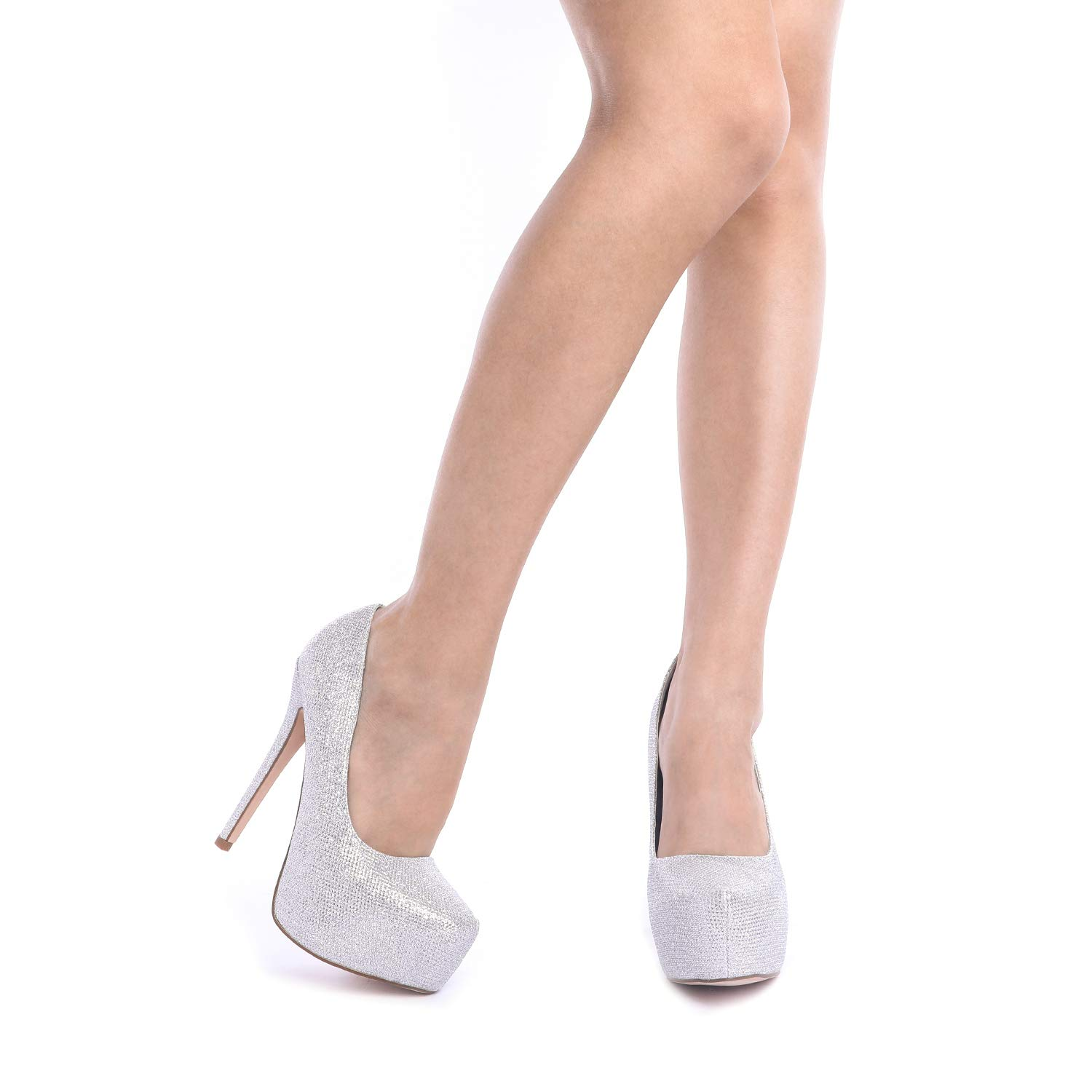 DREAM PAIRS Women's Swan-30 High Heel Plaform Dress Pump Shoes