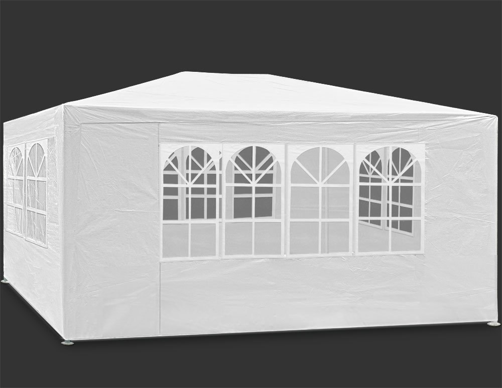 Deuba Garden Gazebo Marquee MAUI 3x4m 2.5m - White - Garden Cocktail Party Pavilion Tent Outdoor Deuba GmbH & Co. KG