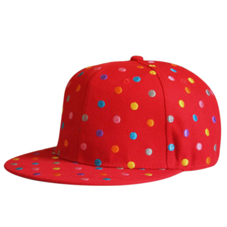CoolBao Kids Hat Little Embroidery Baseball Caps Girls Cap Wild Casual Hip Hop Hip Hop Flat Hats