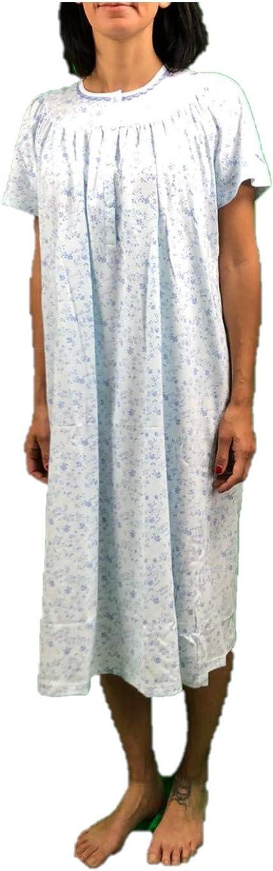 73889 Manica Corta Linclalor Camicia da Notte Puro Cotone Art