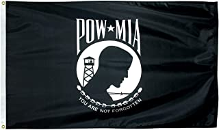 product image for Eder Flag - Endura-Nylon POW-MIA - Double-Sided - Indoor & Outdoor - Proudly Made in The USA - Durable - Fade-Resistant - Quality Craftsmanship (2X3 Foot)