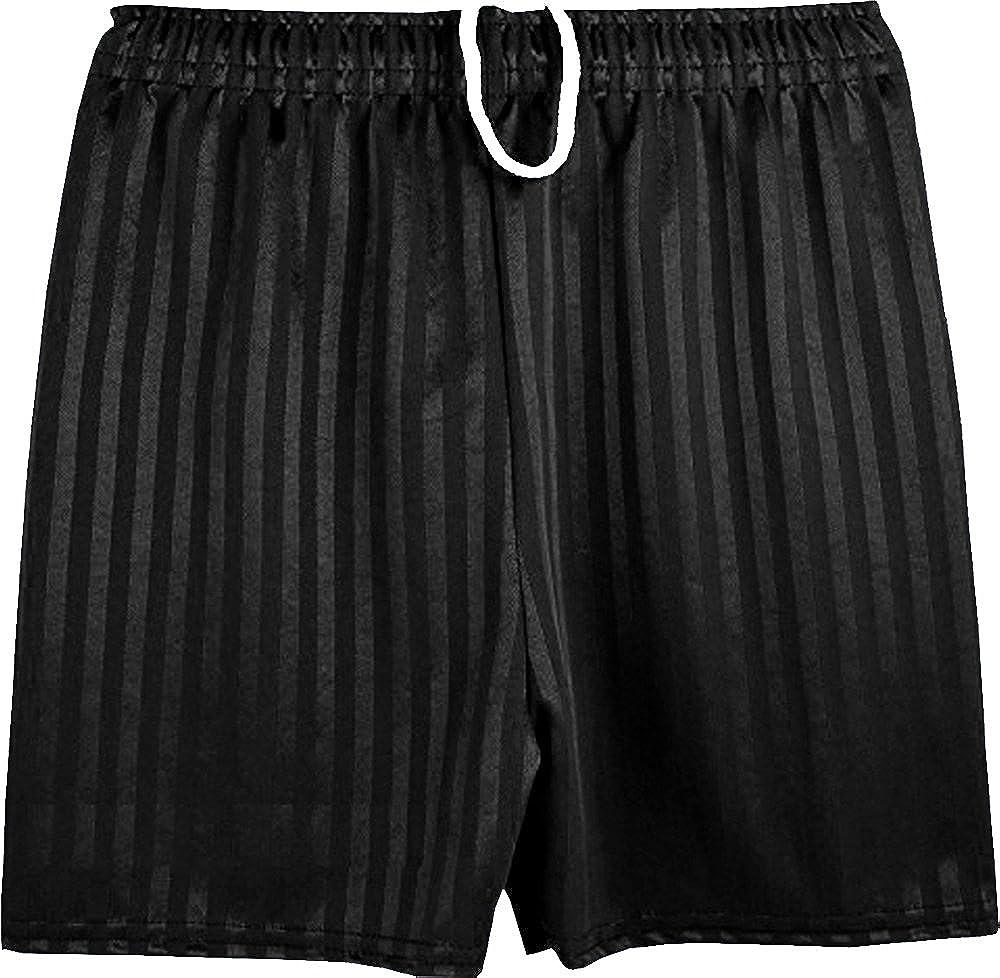 clicktostyle Unisex Royal Blue PE School Shadow Stripe PE Shorts Boys Girls Adult Football Gym Sports Short