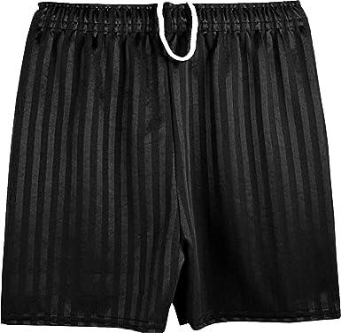 Lyallpur Unisex Green PE School Shadow Stripe Shorts Boys Girls Adult Football Gym Sports Short