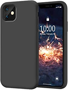 KUMEEK iPhone 11 Case, Soft Silicone Gel Rubber Bumper Case Anti-Scratch Microfiber Lining Hard Shell Shockproof Full-Body Protective Case Cover for iPhone 11-Dark Grey