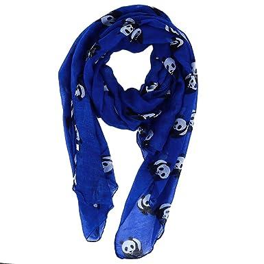 LJSLYJ Écharpes à imprimé panda élégant foulard chaud et élégant, bleu 1ac5be3af5bc