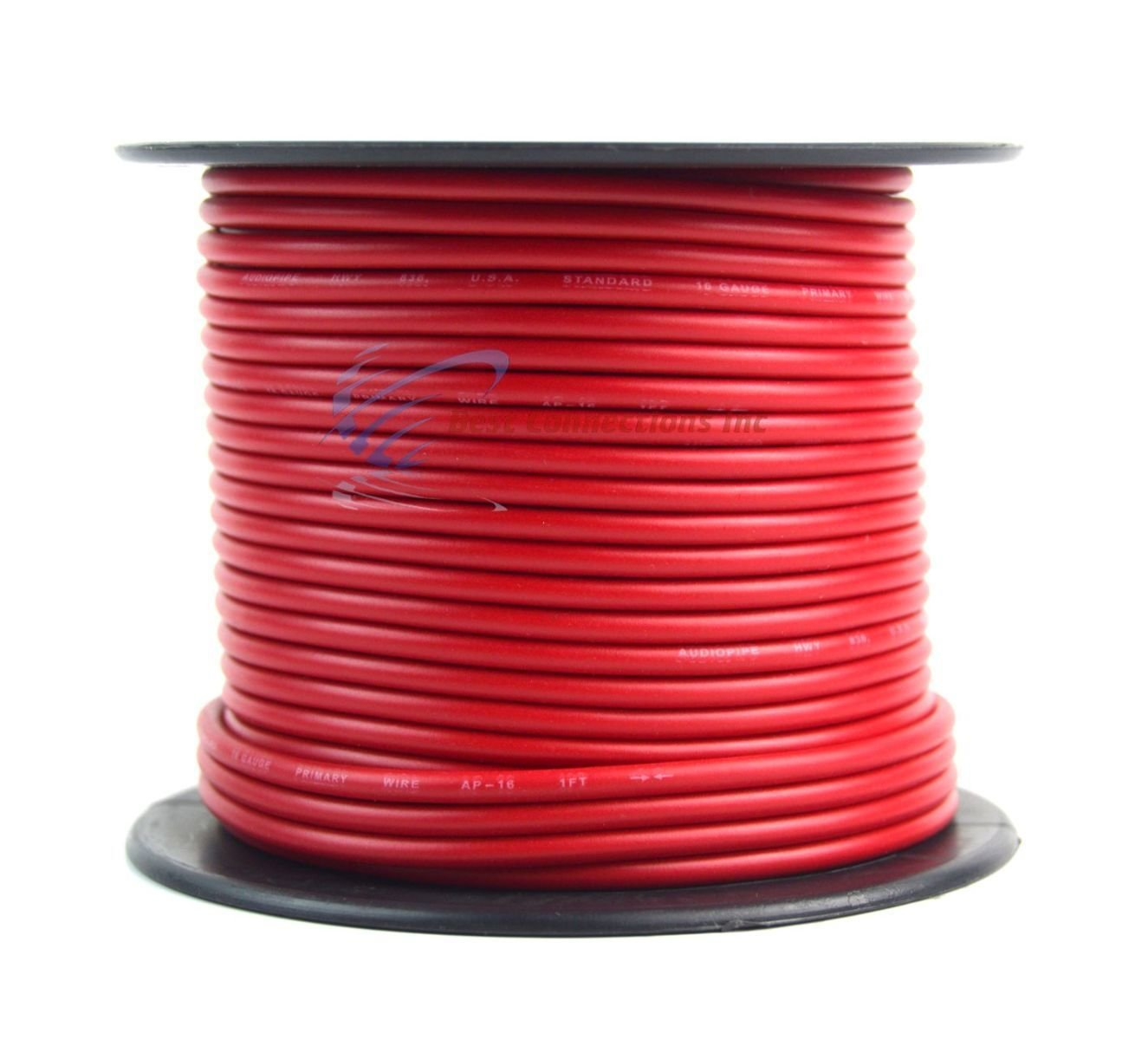 16 Gauge Wire Red Black Power Ground 100 Ft Each Color Coded 22 Wires Primary Stranded Copper Clad Everything Else