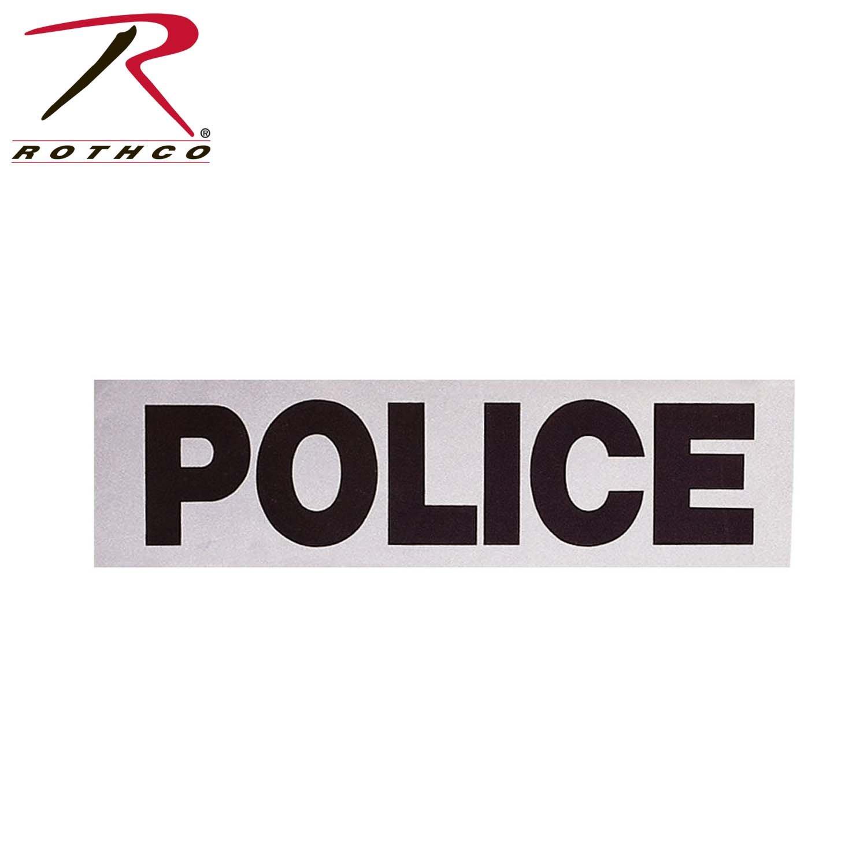 Rothco Police Reflective Tape, 12'' x 3.5'' 12'' x 3.5'' 1920