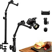 """Obeamiu Camera Desk Mount Stand, Magic Arm with 1/4"""" Ball Head, Hot Shoe, 15.5-25.5 Inch Adjustable Tabletop Clamp Mount…"""