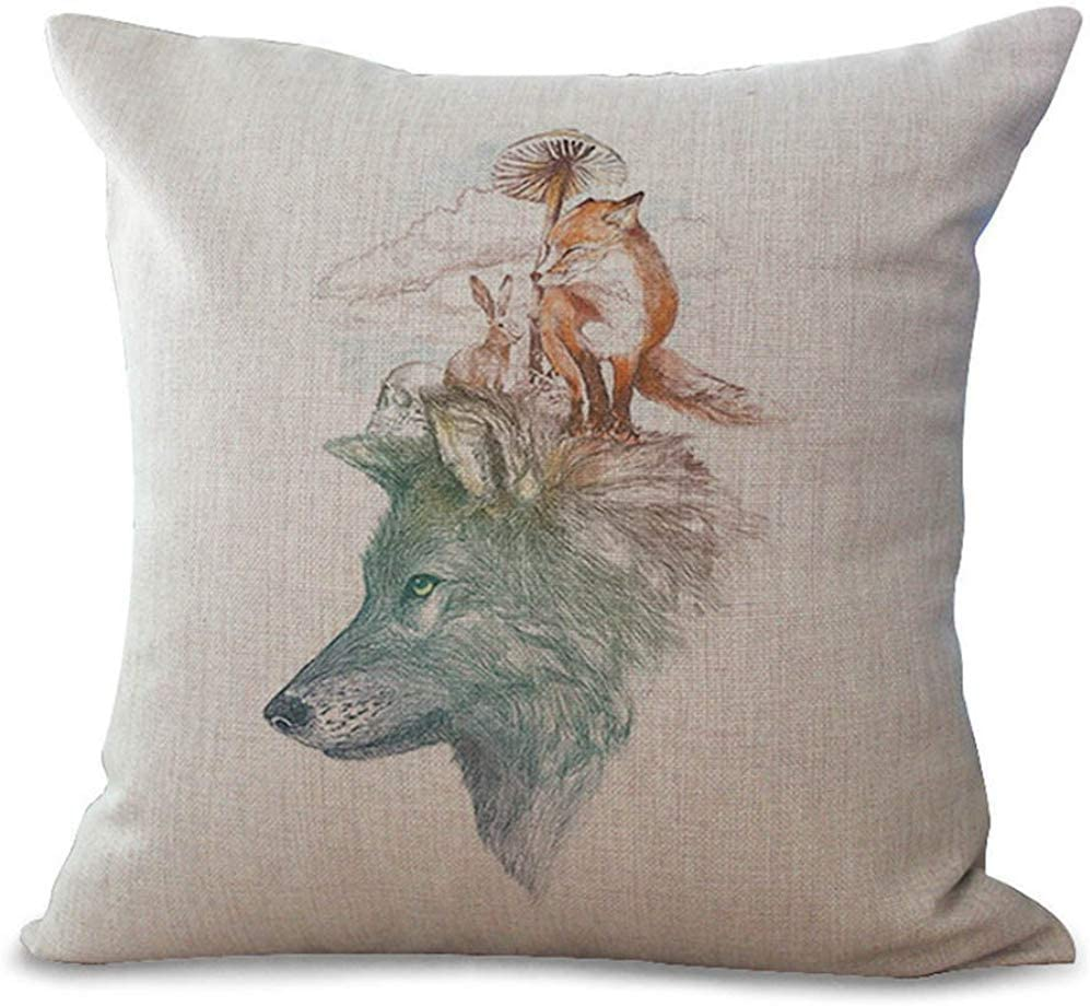 Cushion Cover lovely wolf design  throw pillow covers