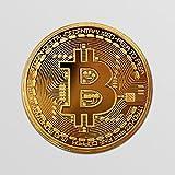 Bitcoin Blockchain Cryptocurrency Gold Coin Vinyl