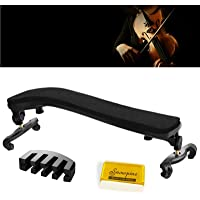 Violin Shoulder Rest for 1/4 and 1/2 Size, with Collapsible and Height Adjustable Feet and Comfortable Foam Pad…