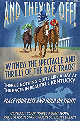 Kentucky - Horse Racing Vintage Sign