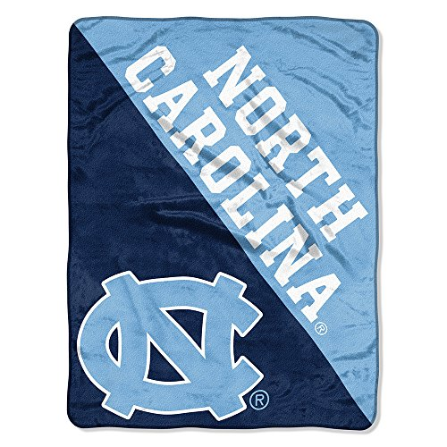 (The Northwest Company Officially Licensed NCAA North Carolina Tar Heels Halftone Micro Raschel Throw Blanket, 46