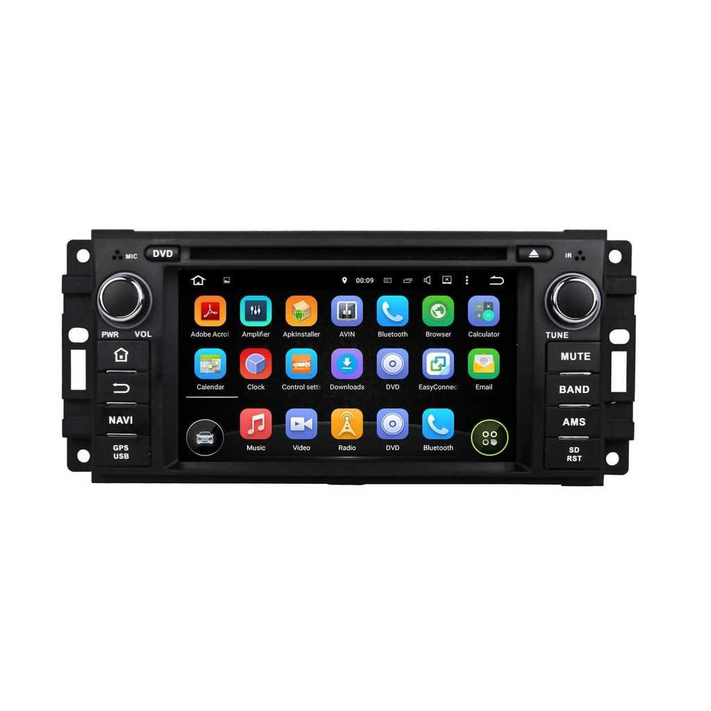 1 Din 6.2 pouces Android 5.1.1 Lollipop stéréo de voiture pour Jeep Patriot(2009-2011)/Jeep Compass(2009-2011)/Jeep Liberty(2008-2011)/Jeep Commander(2008-2011)/Jeep Wranger(2007-2012)/Grand Cherokee(2008-2011),
