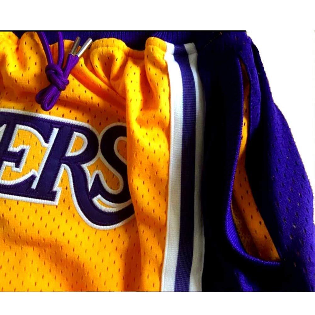 Wo nice New Jersey Lakers # 23 James ins con el Mismo p/árrafo Pantalones Cortos de Baloncesto Amarillo Bordado Transpirable r/ápido seco Pantalones Deportivos para Hombres fan/áticos Ropa Deportiva,S