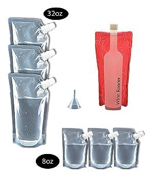 Crucero corredores marca crucero barco plástico termo Kit 8 pcs Sneak Alcohol Ron Runner licor Sneak