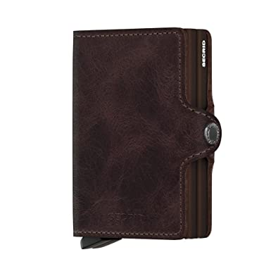 d537af70b6e Secrid Twin Wallet, Vintage Chocolate, Genuine Leather with RFID Protecton,  Holds up to
