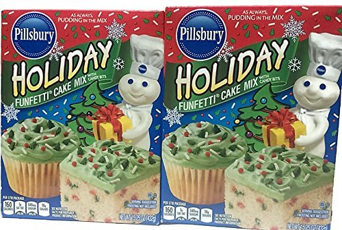 - Pillsbury Funfetti Holiday Cake Mix With Candy Bits, 15.25 Ounce (Pack of 2)