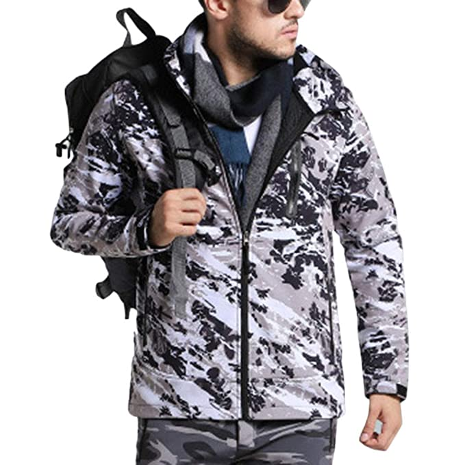 DianShao Mujer Hombre Outdoor Camuflaje Impermeable ...