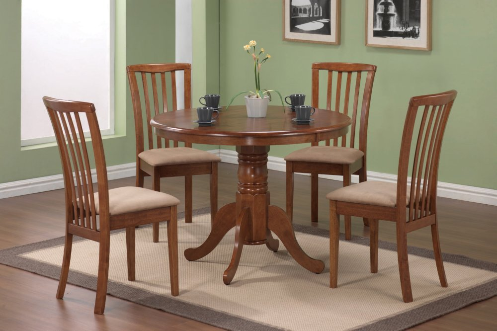 Amazon.com - 5-Piece Dining Set in Oak - Coaster - Table & Chair Sets