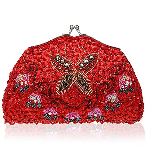 Womens Encrusted Butterfly Design Evening product image