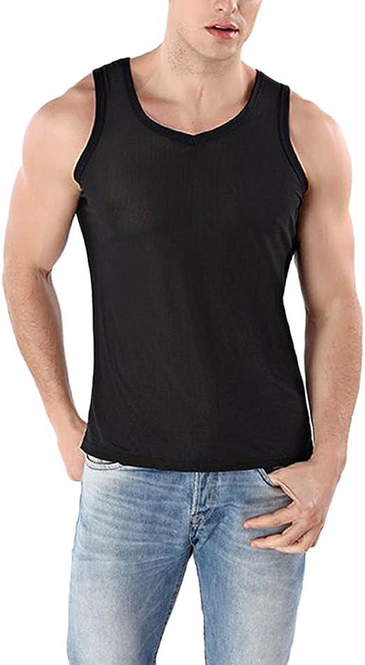Zhuhaitf Deportes Elasticidad Quick-Drying Hombres Vest ...