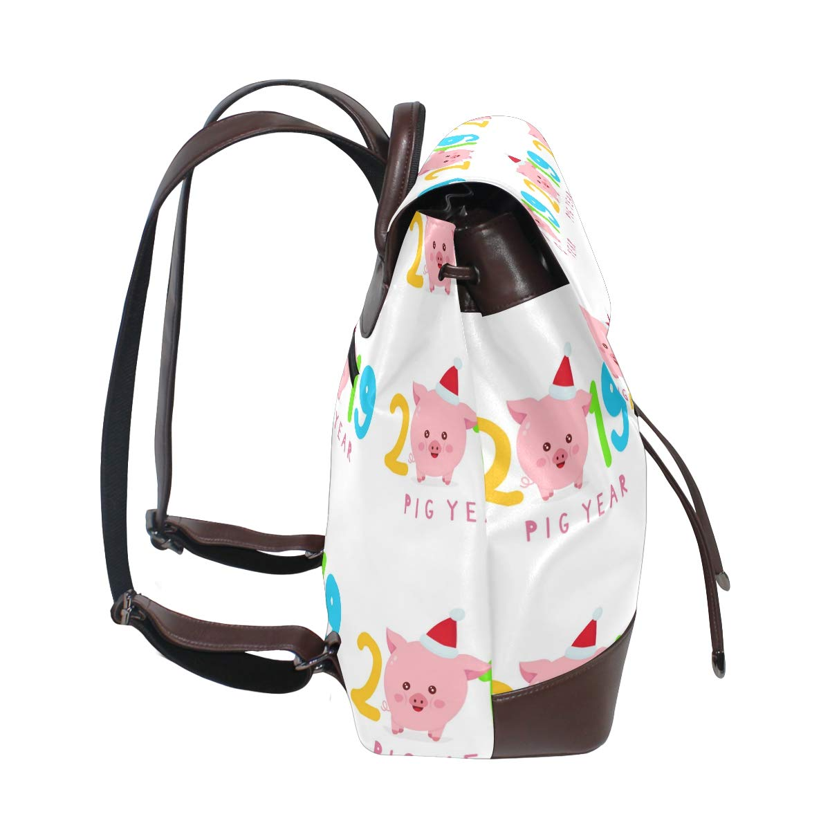 Leather 2019 With Cute Pig Backpack Daypack Bag Women