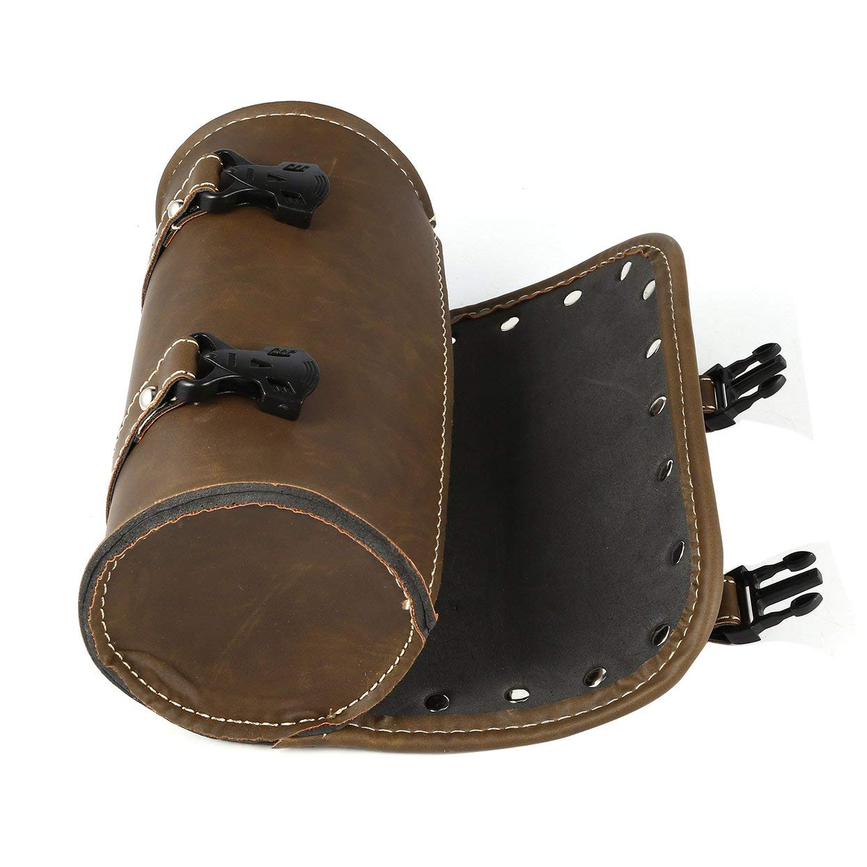 Tree-on-LifeUniversal Motorcycle Saddle Bags Fork Tool PU Leather Bag Luggage Handlebar Bag Tail Bags Roll Shape Motocross Saddlebag