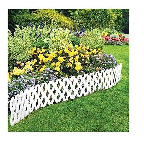 Lattice Edging (4 Pc Outdoor Flexible Lattice Weatherproof Plastic Garden Edging Border)