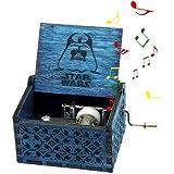 Teepao - Caja de música de Madera Tallada a Mano, grabada a Mano, Caja de música de Madera, Nombre de Tronos/Harry Potter/Bella y la Bestia, Caja de música