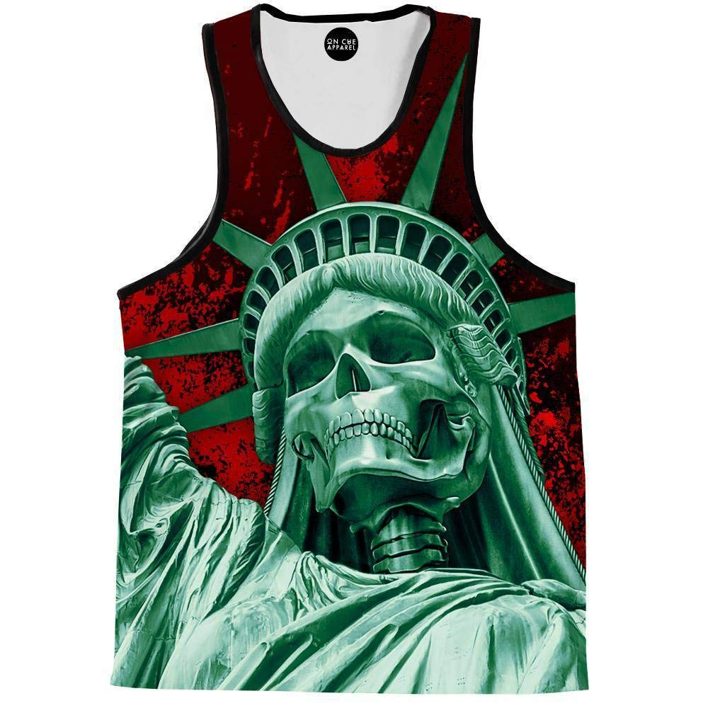 On Cue Apparel Libery Or Death Tank Top