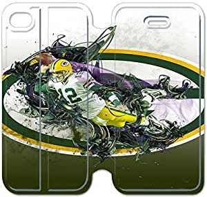 iphone 4 4s Flip Leather Phone Case Aaron Rodgers TY1OR3234064