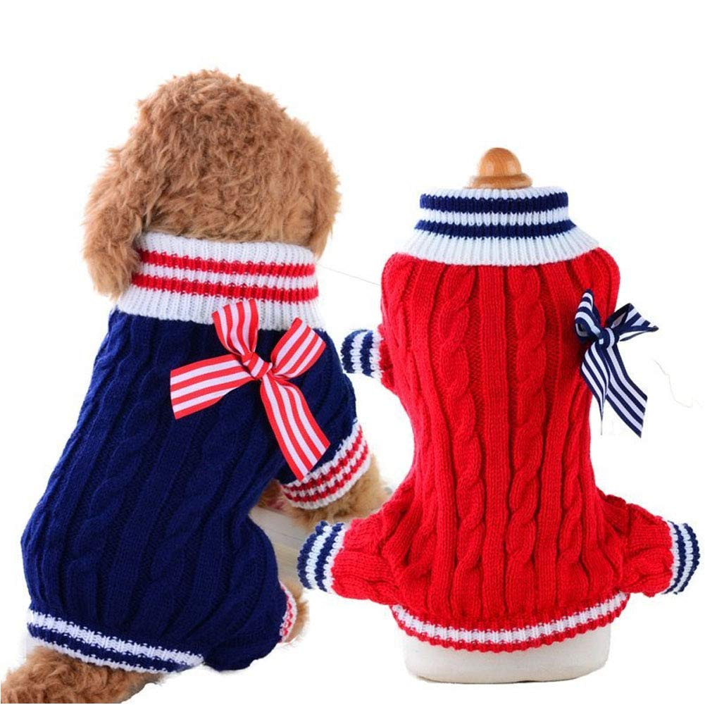 ZXHHL Dog Sweater Hand-Woven pet Vest Winter Knitted Autumn and Winter Small Dog Clothes