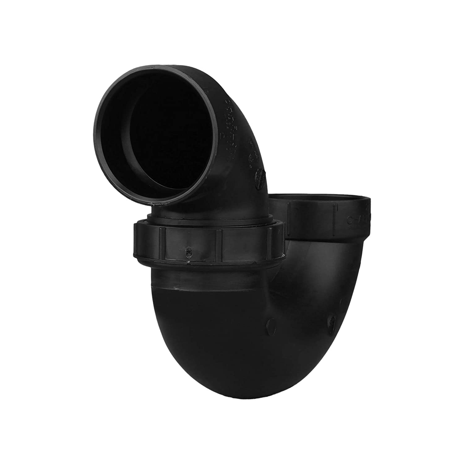 Single Unit Drain, Waste and Vent Charlotte Pipe 2 DWV P-Trap with Threaded Union W//p-nut ABS DWV Schedule 40