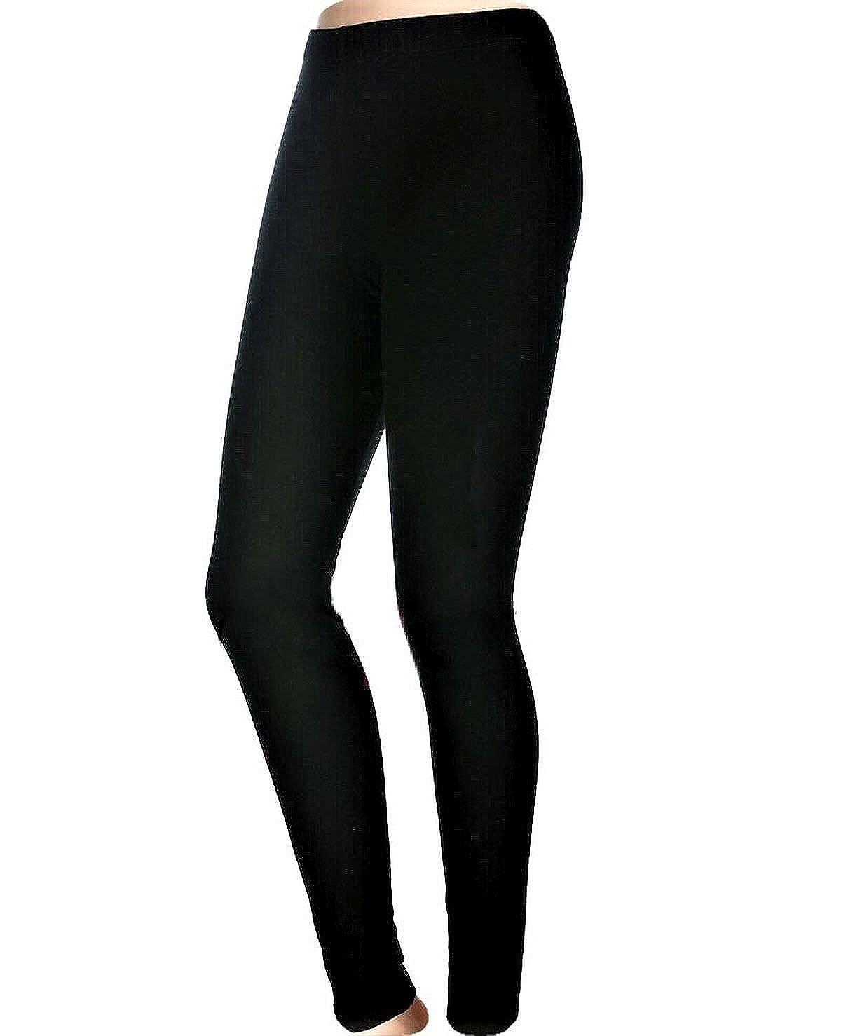 JADEA LEGGINGS PANTACOLLANT DONNA ARTICOLO WINTER IN COTONE FELPATO - Effetto termico, confortevole e caldo. Disponibile nei colori Nero e Blu