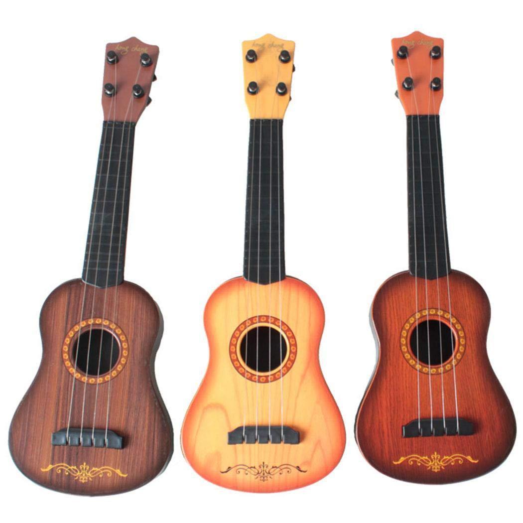 dozenla 1 Pc Mini Ukulele Guitar Toy for Kids Baby Musical Instrument Educational Toy Guitars for Beginner Starter by dozenla