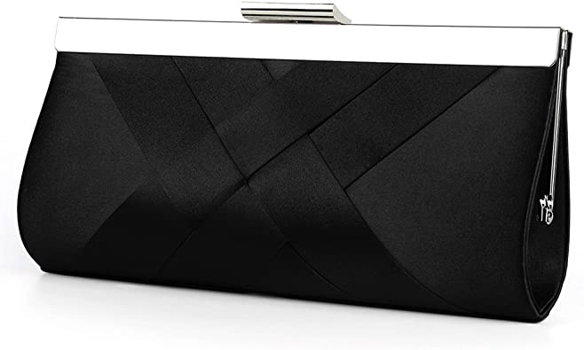 New Arrival Women Solid Colors Satin Single Chain Evening Clutch Party Bag