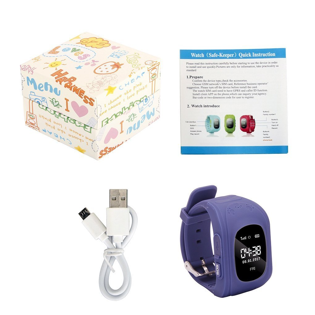 Amazon.com: Jsbaby Kids Smart Watch for Children Girls Boys Digital Watch with Anti-Lost SOS Button GPS Tracker Smartwatch Great Gift for Children Pedometer ...