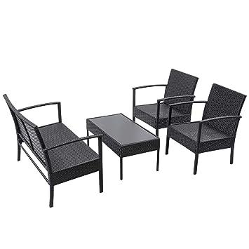 COSTWAY Conjuntos de Muebles de Jardín Patio Sofá Sillas y ...