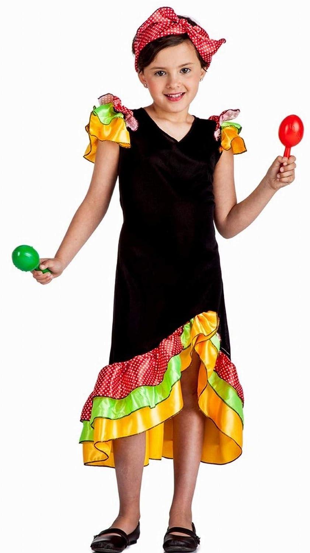 Disfraz Rumbera 3-4: Amazon.es: Juguetes y juegos
