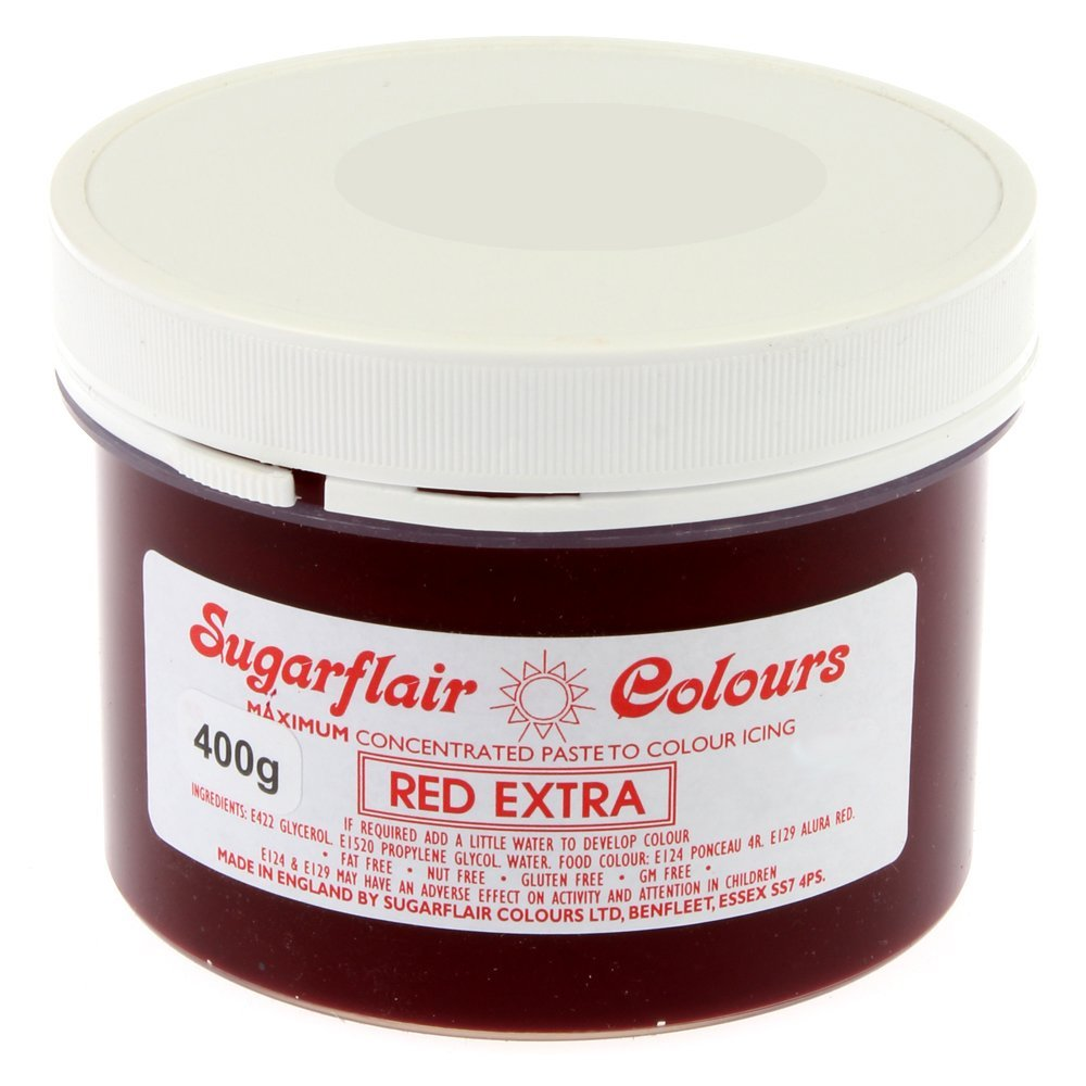 Sugarflair Spectral Concentrated Paste Food Colouring - Red Extra -400g Bulk Pack