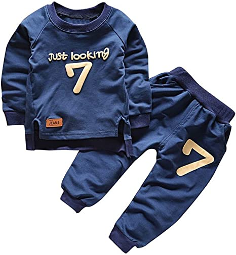Moresave Bebé Conjunto de ropa de manga larga suéter Tops pantalón de chándal: Amazon.es: Bebé